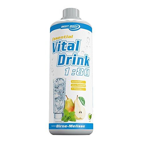 Best Body Nutrition - Essential Vital Drink, 1:80 Birne-Melisse, 1:80, 1000 ml Flasche