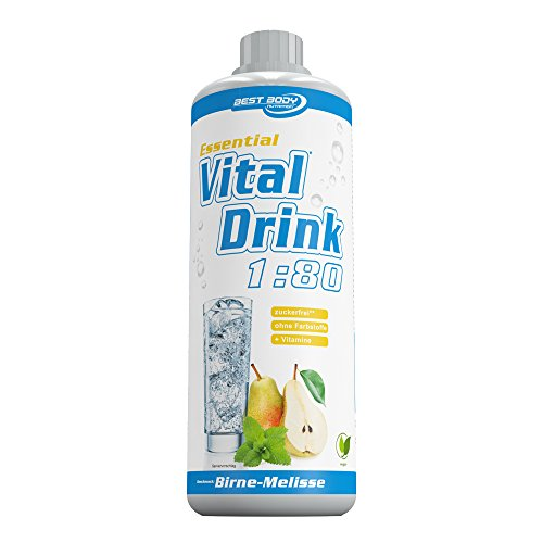 Best Body Nutrition - Essential Vital Drink, 1:80 Birne-Melisse, 1:80, 1000 ml Flasche