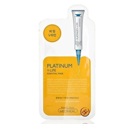 MediHealプラチナV-Lifeエッセンシャルマスクパックシート(Platinum V-Life Essential Mask Pack Sheets 10...