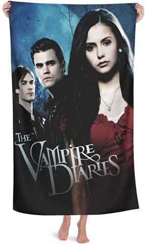 QWAS Toalla de playa de The Vampire Diaries, toalla de baño o playa, viaje, toalla de secado rápido, súper absorbente (2,100 × 200 cm)
