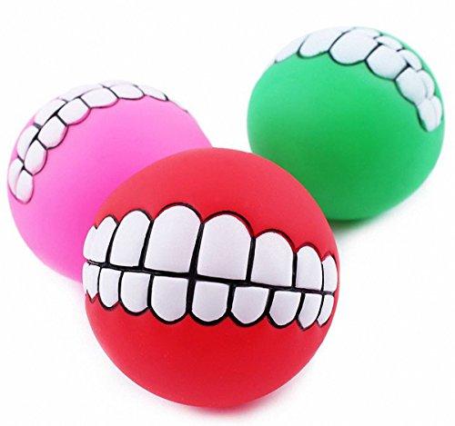 Animal doméstico juguetes minación atmosférica Super Thick Vinilo dientes sanos Bite resistente Pelota Instrumento de adiestramiento del perro Casualmente colores