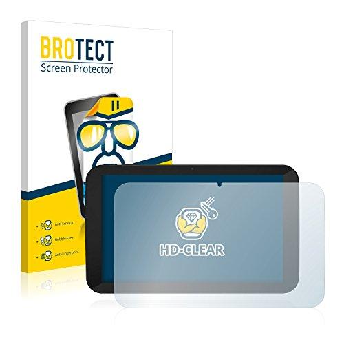 BROTECT Schutzfolie kompatibel mit TrekStor SurfTab xiron 10.1 3G (Volks-Tablet mit 3G) (2 Stück) klare Bildschirmschutz-Folie