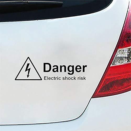 Etiqueta del coche Etiqueta del coche 18.6Cm * 5.9Cm Advertencia Peligro Riesgo...