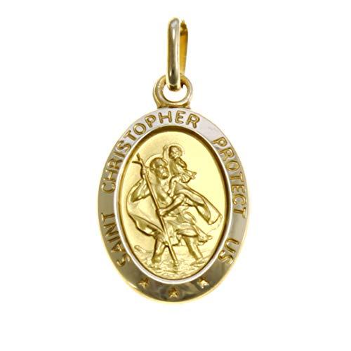 Alexander Castle Medaille St. Christophorus, 9 Karat Gold, 1,6 g, mit Schmuckschatulle