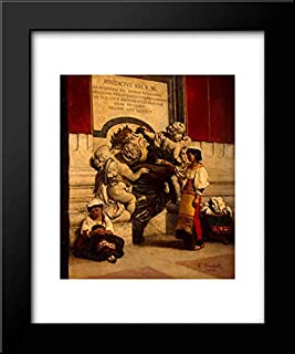 Fountain by St Peters Basilica in Rome 15x18 Framed Art Print by Leon Bonnat