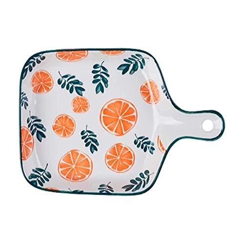 Bandejas Horno para Horno y microondas Plato de horno de cerámica, plato de senderos, plato para hornear rectangular, bandeja de hornear de cerámica, platos de cocina para horno ( Color : F-3 )