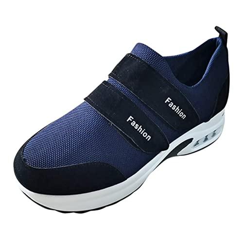 URIBAKY - Zapatillas de ocio al aire libre transpirables para mujer, zapatillas de running, running, fitness, transpirables, zapatillas de senderismo, Le Noir, 40 EU