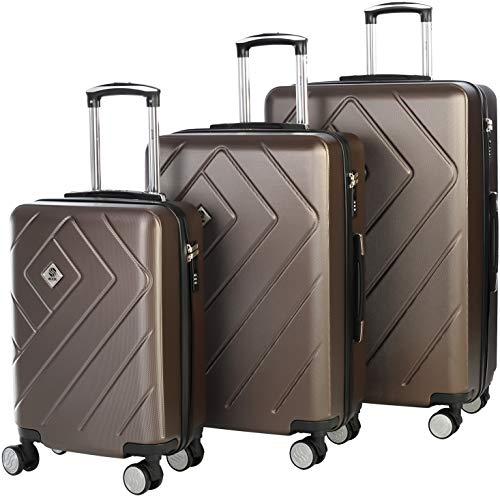 Kofferset 20 Zoll, 24 Zoll und 28 Zoll   Superfestigkeit, Elastizität und Leichtigkeit   3-stelliges TSA-zugelassenes Schloss   Griffe Soft-Touch  ...