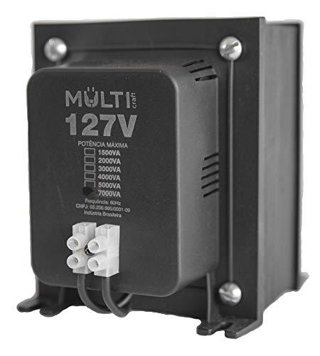 Autotransformador Bivolt (110V/127V para 220V ou 220V para 110V/127V) Tripolar de 7000VA Multicraft