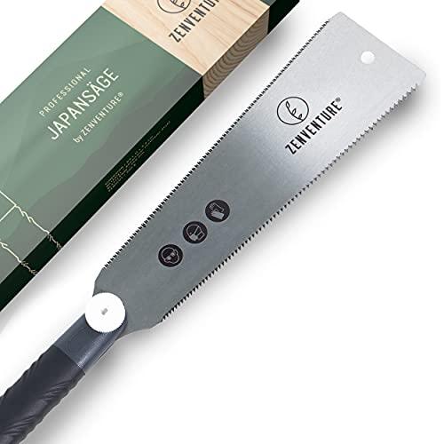ZENVENTURE® Japansäge - Ryoba Holzsäge für präzise Schnitte - Japanische Säge ideal für Massivholz - mit rutschfestem Griff & auswechselbarem Sägeblatt