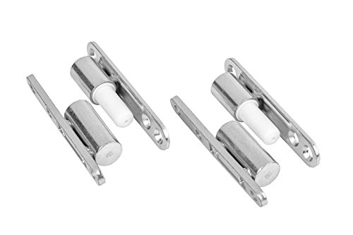 Gedotec Renovierbänder Zimmertür Türbänder für Innentüren zum Aufschrauben | Stahl verzinkt | Türscharnier mit wartungsfreier Gleitlagertechnik | 15 x 83 mm | 2 Stück - Aufschraub-Bänder für Türen