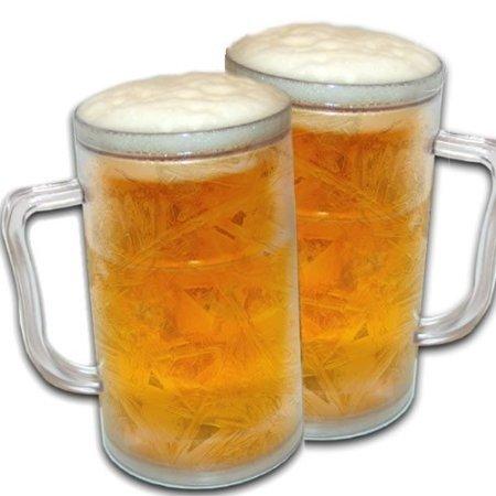 2 x Frozen Mok koelbeker ijs bierpul bierglas