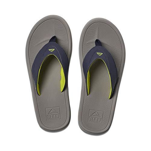 Reef Men's Sandals Modern | Arch Support Flip Flops for Men, Grey/Navy, 12