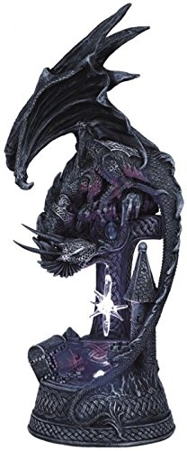 StealStreet SS-G-71224 Dragon with Lighting LED Crystal Ball Collectible Figurine Statue Model