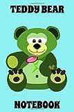 Teddy Bear - Notebook - Flower - Bees - Blue - Black - College Ruled