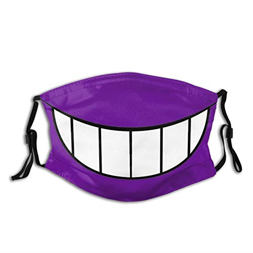 Gengar Smile Adults Fashion Washable Dust and Windproof Mask Reusable Face Cover Adjustable Ear Straps Black
