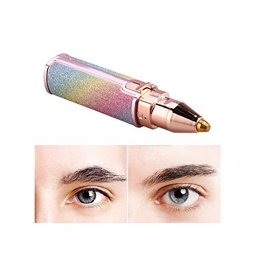 QX Augenbrauen Rasier, Trimmer Gesichtshaarentferner für Frauen,Schmerzloser Elektrischer Epilierer Eyebrows Hair Remover für Pfirsichfussel/Gesichtshaar/Lippe/Kinn/Nase,USB