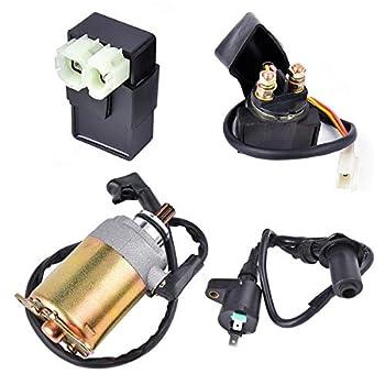 Electrical Kit KD150EKIT Replacemnet for Twister 150 cc Go Kart Cart CDI Coil Starter M150-1064000