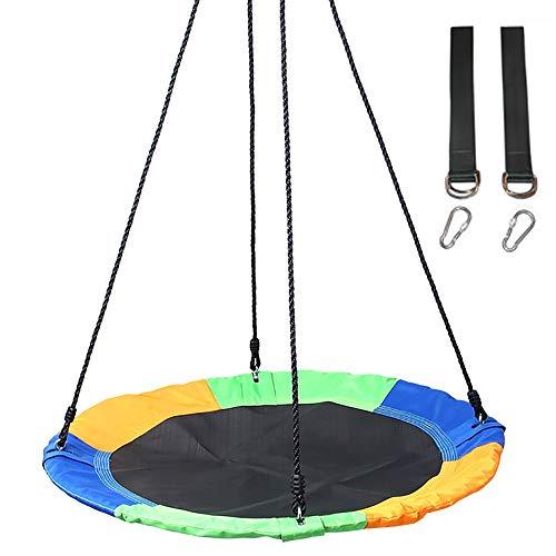 JW-YZWJ Rund Schaukel, Kinder Outdoor Leisure Sling 900D Oxford Tuch Swing, Geeignet für Kinder Erwachsene von 150Kg