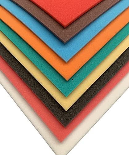 Plancha de Espuma Poliuretano Blanca - (200 x100 x01 cm de grosor) - Fácil de cortar con tijeras - Ideal para realizar manualidades, disfraces, atrezos, etc