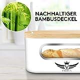 VALELA Brotkasten - Brot Box ideal zur Brotaufbewahrung geeignet, Testsieger Brotkasten mit Schneidebrett, hochwertiger Brotkorb Weiß - 6