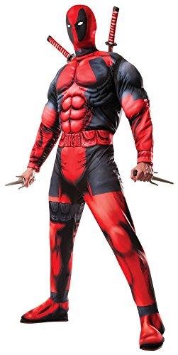 Rubie's Men's Marvel Universe Classic Muscle Chest Deadpool Costume, Red, Standard