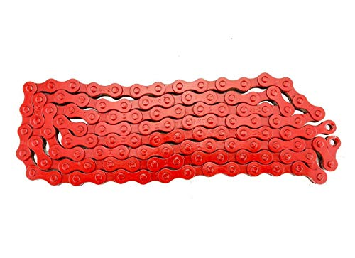 KMC Z410 Bicycle Chain (1-Speed, 1/2 x 1/8-Inch, 112L, Red)