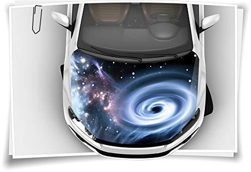Medianlux Sterne Galaxie Weltall Motorhaube Auto-Aufkleber Steinschlag-Schutz-Folie Airbrush Tuning Car-Wrapping Luftkanalfolie Digitaldruck Folierung