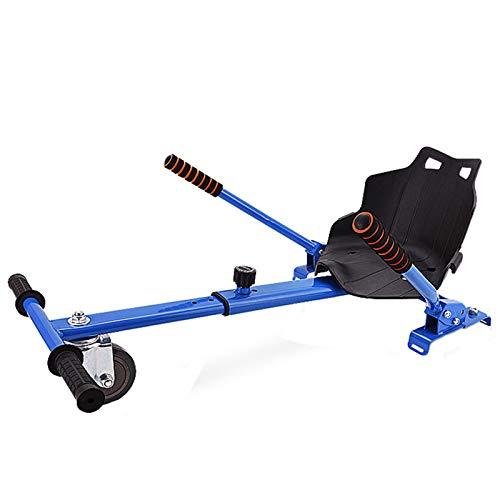 Hoverboards, Blue Racer Asiento, Coloque el apego Kart para Smart Electric Scooter Ajustable, Adultos y niños puede jugar, todas las edades auto equilibrado compatib