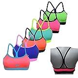 Glamexx24 Girls Bustier 6-Pack Classic Bras Training Sport Bra Seamless Kids Underwear top