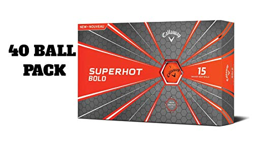 Buy Callaway Golf Superhot Bold Matte Golf Balls (Pack of 15) (Orange, (45 Ball Pack))