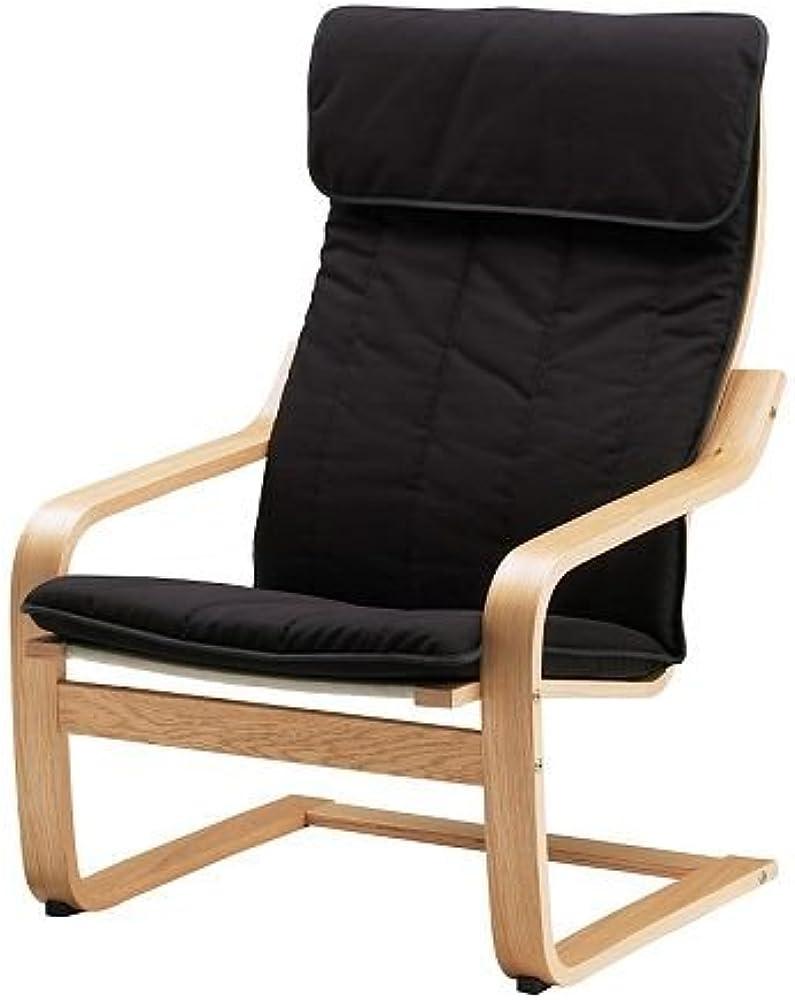 Ikea poang, poltrona,in di legno rovere, e tessuto 55% cotone, 12% viscosa, 8% lino, 25 % poliestere 191.977.75