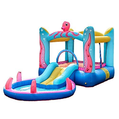 wangYUEQ Accesorios diarios castillos hinchables de los niños castillo inflable tobogán juguetes interior y al aire libre patio trampolín/cama de rebote parque de atracciones