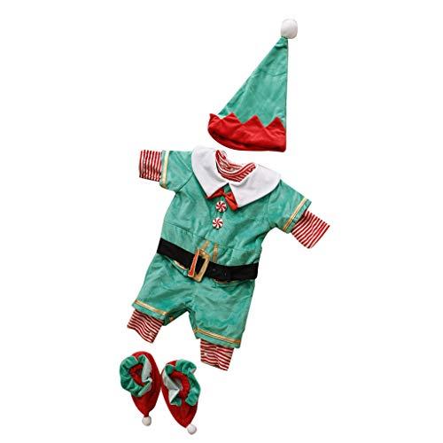 Baoblaze Traje de Navidad Santa de Elfos Disfraces Decoración de Hogar Juguete Educativo - Santa Elf, 19-24 meses