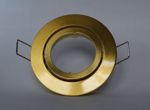E4437-3 Druckguss Einbaustrahler Messing/Gold mit Schnellspannkopf ideal für LED