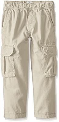 The Children's Place Boys Pull-On Cargo Pants, Sand Wash, 14 Husky