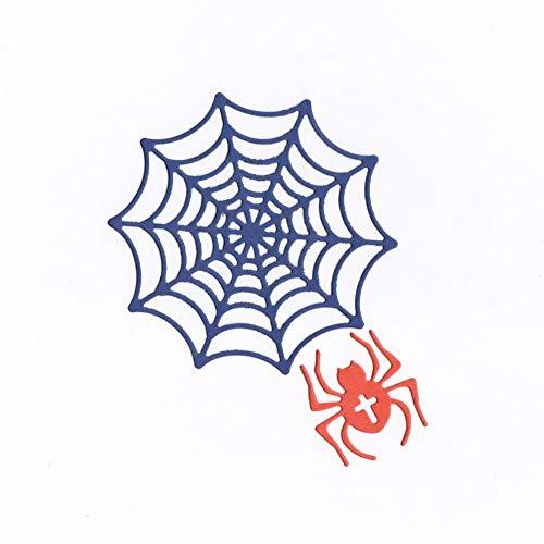 Luning DIY Stanzformen Metall Stanzformen für Karten Basteln Halloween Spinnennetz