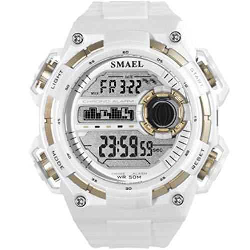 Mens relojes digitales, 50M impermeable de los hombres reloj de los deportes de choque reloj de pulsera digital resistente masculino electrónico for el deporte al aire libre de los hombres fengong
