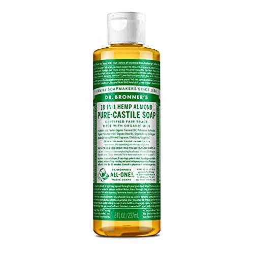 Dr. Bronner's Savon liquide bio pour amande pure-castille, 237 ml