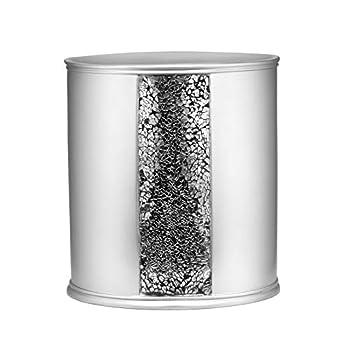 Popular Bath Silver Sinatra Waste Basket