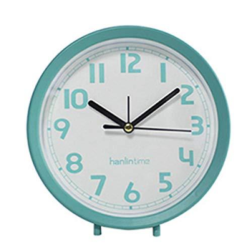 Lindos Relojes de Alarma portátiles con batería, mesita de Noche, Mesa, Relojes de Alarma de Pared, Relojes de Alarma con Sonido de Viaje, decoración del hogar, Regalos de cumpleaños para niños-Verde
