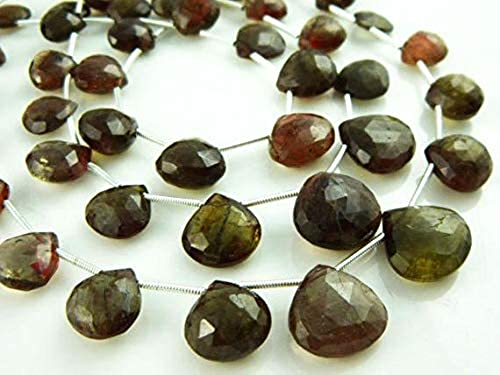 conveniente GEMS-WORLD BEADS GEMSTONE AA-Andulsite Faceted Faceted Faceted Big Heart Briolette- 8.5  Strand -Stones measure -9-14mm  Mejor precio