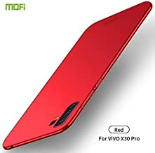 For Vivo X30 Pro Frosted PC Ultra-thin Hard Case Waterproof (Color : Red)