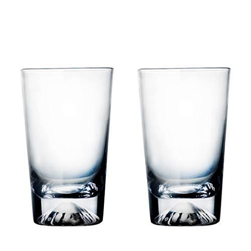 LRW Japanse stijl Glaswerk Tea Mug Creative Coffee Mug Whiskey Mug 2 Gift Box -300ml ~ 400ml (Size : L)