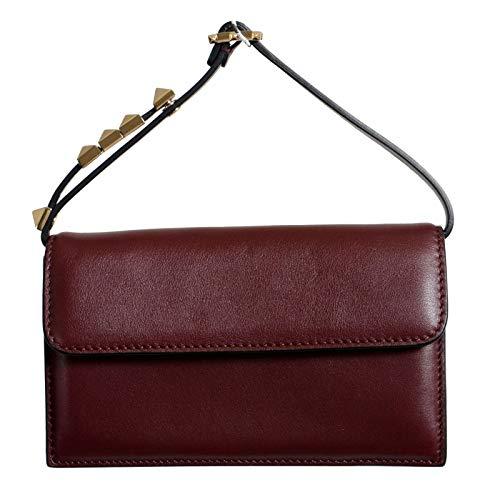 Valentino Women's 100% Leather Brown Rockstud Handbag Shoulder Bag