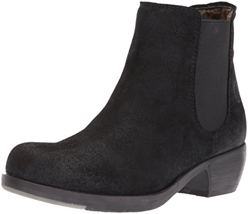 FLY London Damen MAKE Chelsea Boots Stiefel, Schwarz (Black 030), 41 EU