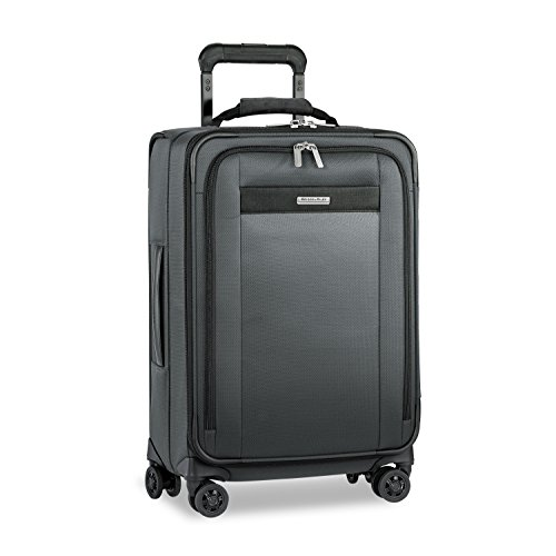 """Briggs & Riley Transcend Tall Carry-on Expandable 22"""" Spinner, Slate"""