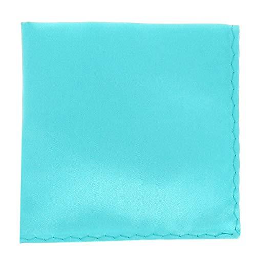 Pochette Costume Bleu Turquoise - Mouchoir de Poche Homme Turquoise - Accessoire Carré Poche de Veste - Mariage, Cérémonie