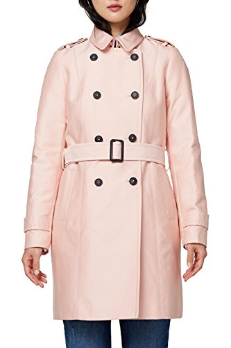 ESPRIT Collection Damen 018EO1G016 Mantel, Rosa (Pastel Pink 695), 34