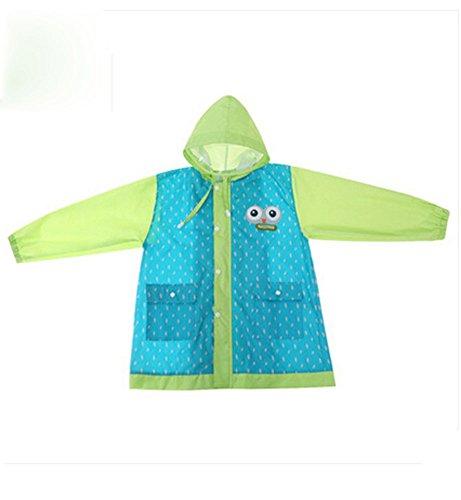 coréen étoiles Lovely bébé imperméable Mode enfants pluie Bleu Dot S